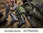 kit of moder russia military...   Shutterstock . vector #437960281