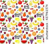 fresh fruits flat style... | Shutterstock .eps vector #437961574