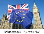 european union and british... | Shutterstock . vector #437964769
