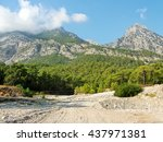 The Bed Of A Dry River In The...