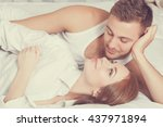 sexual scene of gentle and... | Shutterstock . vector #437971894