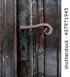 Old Wooden Door With Forged...