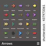 flat material design icons set  ... | Shutterstock .eps vector #437973361