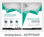 flyer template brochure design...   Shutterstock .eps vector #437974249