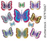 colorful butterflies | Shutterstock .eps vector #437976067