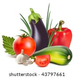 vector. colorful fresh group of ... | Shutterstock .eps vector #43797661