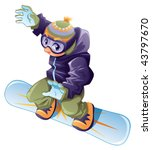 young snowboarder. vector... | Shutterstock .eps vector #43797670