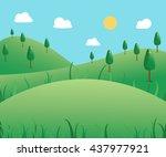 beautiful summer outdoor...   Shutterstock .eps vector #437977921