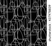bottles  cans  glass  pattern   Shutterstock .eps vector #437978839