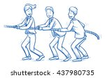 happy business team  men and... | Shutterstock .eps vector #437980735