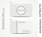 vector simple business card... | Shutterstock .eps vector #437981755