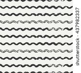 hand drawn seamless pattern... | Shutterstock .eps vector #437982337