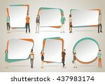 vector banners   backgrounds... | Shutterstock .eps vector #437983174