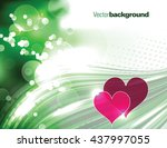 abstract shiny green background ... | Shutterstock .eps vector #437997055
