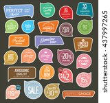modern badges colorful... | Shutterstock .eps vector #437997265
