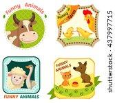 set of farm animals character...   Shutterstock .eps vector #437997715