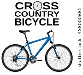 cross country bike. detailed... | Shutterstock .eps vector #438000685