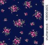 cute pattern in small flower.... | Shutterstock .eps vector #438001831