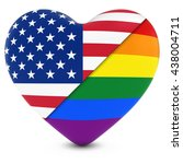 united states flag heart mixed... | Shutterstock . vector #438004711