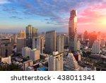aerial view of bangkok modern... | Shutterstock . vector #438011341