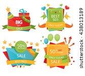 set of sale design elements.... | Shutterstock .eps vector #438013189