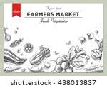 templates for label design with ... | Shutterstock . vector #438013837