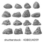 natural rocks set isolated on... | Shutterstock .eps vector #438014059
