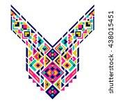 geometric ethnic pattern.... | Shutterstock .eps vector #438015451