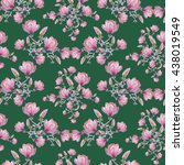 seamless floral pattern with... | Shutterstock . vector #438019549