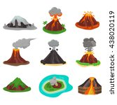 volcano magma nature blowing up ... | Shutterstock .eps vector #438020119