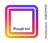 vector photo frame. instagram... | Shutterstock .eps vector #438029455