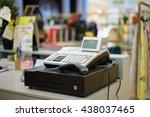 one cash register with a bar...   Shutterstock . vector #438037465