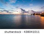 sunrise view in esplanade ...   Shutterstock . vector #438041011