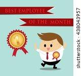 vector of businessman concept... | Shutterstock .eps vector #438043957