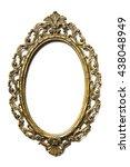 golden oval picture frame on... | Shutterstock . vector #438048949