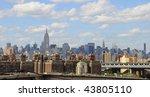 new york city panorama from... | Shutterstock . vector #43805110