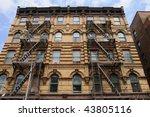 fire escapes in greenwich... | Shutterstock . vector #43805116
