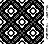 abstract black and white... | Shutterstock .eps vector #438054901