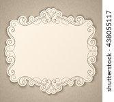elegant luxury vintage... | Shutterstock .eps vector #438055117