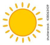sun icon object | Shutterstock .eps vector #438063439