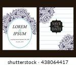 romantic invitation. wedding ... | Shutterstock .eps vector #438064417