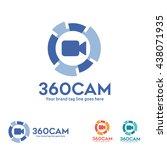 360 degree view camera logo   Shutterstock .eps vector #438071935