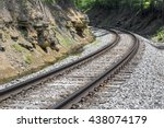 Railroad Track Curve Around A...