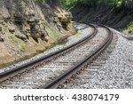 Railroad Track Curve Around A...