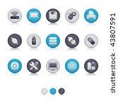 matte circle   computer... | Shutterstock .eps vector #43807591