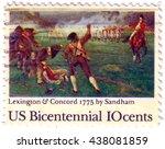 usa   circa 1975  a postage... | Shutterstock . vector #438081859