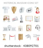 museum icons vector set | Shutterstock .eps vector #438092701