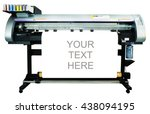 large format ink jet printer ... | Shutterstock . vector #438094195