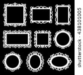 vector set of decorative... | Shutterstock .eps vector #438101005