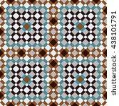 Moroccan Wall Tile. Zellige...